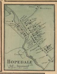 Hopedale Village, Massachusetts 1857 Old Town Map Custom Print - Worcester Co.