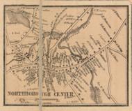 Northborough Center, Massachusetts 1857 Old Town Map Custom Print - Worcester Co.