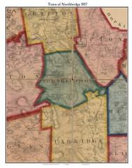 Northbridge, Massachusetts 1857 Old Town Map Custom Print - Worcester Co.