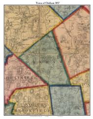 Oakham, Massachusetts 1857 Old Town Map Custom Print - Worcester Co.