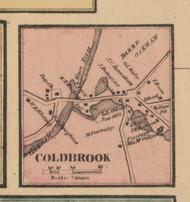Oakham Coldbrook, Massachusetts 1857 Old Town Map Custom Print - Worcester Co.
