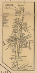 Oxford Village, Massachusetts 1857 Old Town Map Custom Print - Worcester Co.