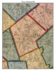 Rutland, Massachusetts 1857 Old Town Map Custom Print - Worcester Co.