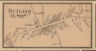 Rutland Village, Massachusetts 1857 Old Town Map Custom Print - Worcester Co.