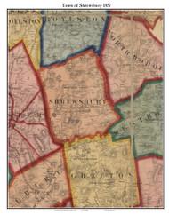 Shrewsbury, Massachusetts 1857 Old Town Map Custom Print - Worcester Co.
