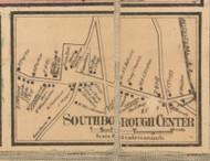 Southborough Center, Massachusetts 1857 Old Town Map Custom Print - Worcester Co.