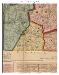 Southbridge, Massachusetts 1857 Old Town Map Custom Print - Worcester Co.