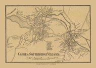 Globe and Southbridge Villages, Massachusetts 1857 Old Town Map Custom Print - Worcester Co.