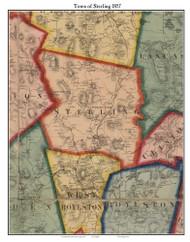 Sterling, Massachusetts 1857 Old Town Map Custom Print - Worcester Co.