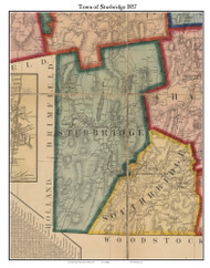 Sturbridge, Massachusetts 1857 Old Town Map Custom Print - Worcester Co.