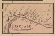 Fiskdale Village, Massachusetts 1857 Old Town Map Custom Print - Worcester Co.