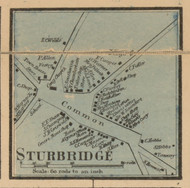 Sturbridge Village, Massachusetts 1857 Old Town Map Custom Print - Worcester Co.