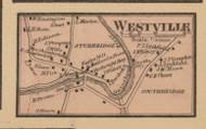 Westville Village, Massachusetts 1857 Old Town Map Custom Print - Worcester Co.
