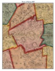 Sutton, Massachusetts 1857 Old Town Map Custom Print - Worcester Co.