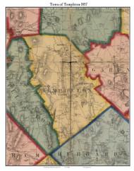 Templeton, Massachusetts 1857 Old Town Map Custom Print - Worcester Co.