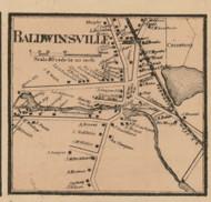 Baldwinsville Village, Massachusetts 1857 Old Town Map Custom Print - Worcester Co.
