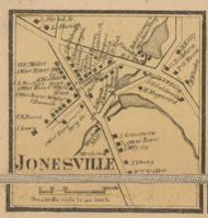 Jonesville Village, Massachusetts 1857 Old Town Map Custom Print - Worcester Co.