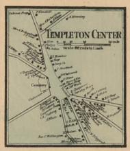 Templeton Center, Massachusetts 1857 Old Town Map Custom Print - Worcester Co.