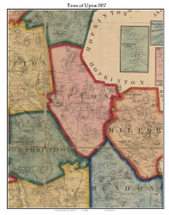 Upton, Massachusetts 1857 Old Town Map Custom Print - Worcester Co.