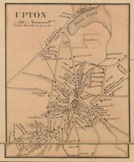 Upton Village, Massachusetts 1857 Old Town Map Custom Print - Worcester Co.