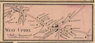 West Upton Village, Massachusetts 1857 Old Town Map Custom Print - Worcester Co.