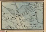 Uxbridge Mills Village, Massachusetts 1857 Old Town Map Custom Print - Worcester Co.