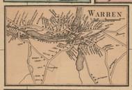 Warren Village, Massachusetts 1857 Old Town Map Custom Print - Worcester Co.