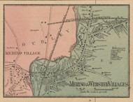 Webster and Merino Village, Massachusetts 1857 Old Town Map Custom Print - Worcester Co.