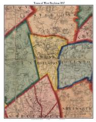 West Boylston, Massachusetts 1857 Old Town Map Custom Print - Worcester Co.