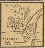 Oakdale, Massachusetts 1857 Old Town Map Custom Print - Worcester Co.