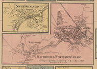 Waterville, South Royalston and Winchendon Villages, Massachusetts 1857 Old Town Map Custom Print - Worcester Co.