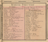 Athol and Hubberston Business Directories, Massachusetts 1857 Old Town Map Custom Print - Worcester Co.