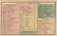 Winchendon, Westminster, Ashburnham and Clinton Business Directories, Massachusetts 1857 Old Town Map Custom Print - Worcester Co.