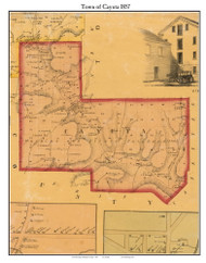 Cayuta, New York 1857 Old Town Map Custom Print - Schuyler Co.