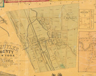 Havanna Village, New York 1857 Old Town Map Custom Print - Schuyler Co.