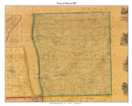 Hector, New York 1857 Old Town Map Custom Print - Schuyler Co.