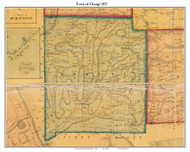 Orange, New York 1857 Old Town Map Custom Print - Schuyler Co.