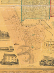 Watkins Village, New York 1857 Old Town Map Custom Print - Schuyler Co.