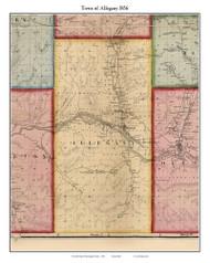 Allegany, New York 1856 Old Town Map Custom Print - Cattaraugus Co.