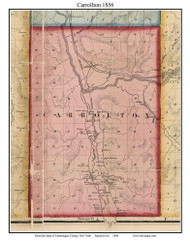 Carrollton, New York 1856 Old Town Map Custom Print - Cattaraugus Co.