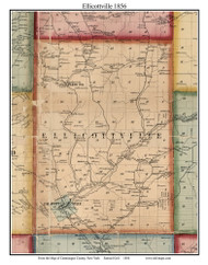 Ellicottville, New York 1856 Old Town Map Custom Print - Cattaraugus Co.