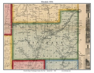 Hinsdale, New York 1856 Old Town Map Custom Print - Cattaraugus Co.