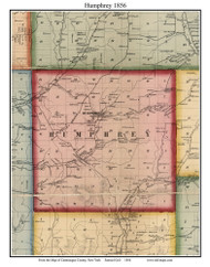 Humphrey, New York 1856 Old Town Map Custom Print - Cattaraugus Co.