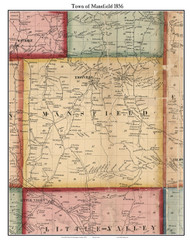 Mansfield, New York 1856 Old Town Map Custom Print - Cattaraugus Co.