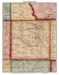 New Albion, New York 1856 Old Town Map Custom Print - Cattaraugus Co.
