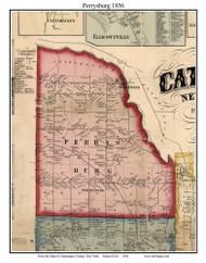 Perrysburg, New York 1856 Old Town Map Custom Print - Cattaraugus Co.