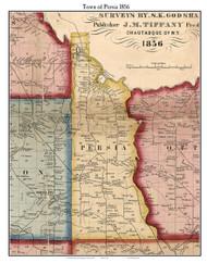 Persia, New York 1856 Old Town Map Custom Print - Cattaraugus Co.