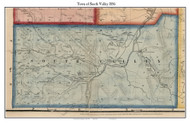 South Valley, New York 1856 Old Town Map Custom Print - Cattaraugus Co.