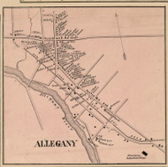 Allegany Village, New York 1856 Old Town Map Custom Print - Cattaraugus Co.