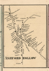 Ashford Hollow Village, New York 1856 Old Town Map Custom Print - Cattaraugus Co.